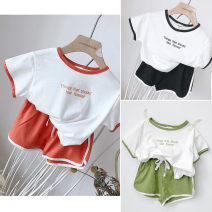 suit Other / other Red, green, black 7(90cm),9(100cm),11(110cm),13(120cm),15(130cm) female summer Korean version Short sleeve + pants Socket nothing other 2 years old, 3 years old, 4 years old, 5 years old, 6 years old Chinese Mainland