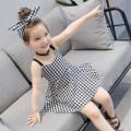 Dress Picture color Other / other female 7(90cm) 9(100cm) 11(110cm) 13(120cm) 15(130cm) Other 100% summer Korean version Skirt / vest lattice F1430