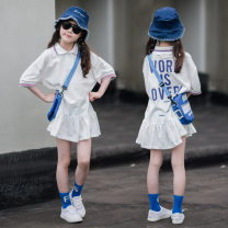 T-shirt White, a little bit larger, it is recommended to shoot according to the height Other / other 110cm,120cm,130cm,140cm,150cm,160cm,165cm female summer Short sleeve Crew neck leisure time There are models in the real shooting nothing Pure cotton (100% cotton content) other Cotton 95% other 5%