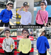 T-shirt Other / other 90cm,100cm,110cm,120cm,130cm,140cm,150cm male spring and autumn Long sleeves Crew neck leisure time There are models in the real shooting nothing cotton other Cotton 93% polyurethane elastic fiber (spandex) 7% Class B Sweat absorption Chinese Mainland Fujian Province