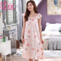 Nightdress Fenzhi color M L XL 2XL 3XL 4XL 5XL sexy Sleeveless pajamas Middle-skirt summer other Crew neck Polyester (polyester) printing 81% (inclusive) - 95% (inclusive) FFZ1112 Summer 2020 Polyester 95% polyurethane elastic fiber (spandex) 5%