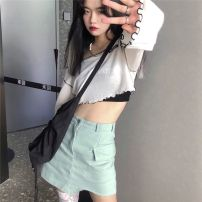 Fashion suit Summer 2020 Average size Sunscreen shirt, vest, skirt s, Skirt M, socks (real price) no reduction 18-25 years old 51% (inclusive) - 70% (inclusive) cotton