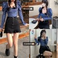 Fashion suit Spring 2021 S, M Plaid shirt, skirt 18-25 years old 51% (inclusive) - 70% (inclusive) cotton