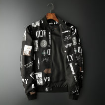 Jacket Other / other Youth fashion M,L,XL,2XL,3XL,4XL,5XL routine standard Other leisure spring Long sleeves Wear out Baseball collar Youthful vigor Large size routine Zipper placket 2020 Rib hem No iron treatment Closing sleeve printing Bag digging with open cut thread polyester fiber