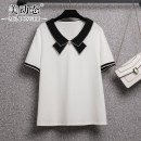 Women's large Summer 2021 white L XL 2XL 3XL 4XL 5XL T-shirt singleton  commute easy moderate Socket Short sleeve Solid color Korean version routine Three dimensional cutting routine Beauty trends 25-29 years old Three dimensional decoration 31% (inclusive) - 50% (inclusive) bow