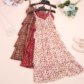 Dress Summer 2020 White, pink, red, apricot, black flowers, brown, black flowers Average size Mid length dress singleton  Sleeveless Sweet V-neck High waist Decor Socket Cake skirt other camisole 18-24 years old Type A CSNRG95462 51% (inclusive) - 70% (inclusive) Mori