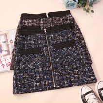 skirt Autumn 2020 S,M,L,XL Black, blue Short skirt commute High waist A-line skirt Type A 18-24 years old 71% (inclusive) - 80% (inclusive) other zipper Korean version