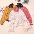 Lace / Chiffon Autumn 2020 1,2,3,4,5,6,7,8 Average size Long sleeves commute Socket singleton  Self cultivation Regular square neck Decor pagoda sleeve CSNRG02221 Korean version