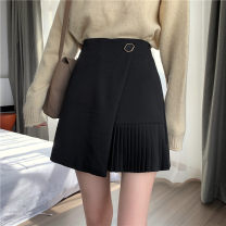 skirt Winter 2020 S,M,L Gray, black Short skirt Versatile High waist Pleated skirt Solid color Type A 18-24 years old 1208k 51% (inclusive) - 70% (inclusive) Wool polyester fiber