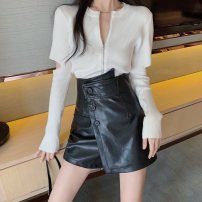 Fashion suit Autumn 2020 S. M, average size T-shirt white, T-shirt black, leather Shorts Black, leather shorts card color 18-25 years old 81% (inclusive) - 90% (inclusive)