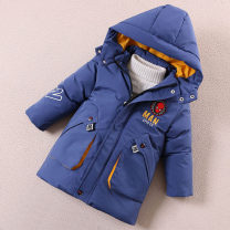 Cotton padded jacket male Detachable cap Cotton 96% and above Other / other Black, orange, blue, navy 100cm, 110cm, 120cm (M size 110-120cm height), 125cm (L size 120-127cm height), 135cm (XL SIZE 127-135cm height), 140cm (XXL size 135-142cm height), 110cm (s size 100-110cm height) thickening other
