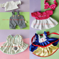 Plush cloth toys 2, 6, 10, 14, over 14 Pink dress hairpin, red rabbit ear strap skirt, blue rabbit ear strap pants, green dress backpack, blue princess skirt 30cm doll suit Other / other Plush PP cotton
