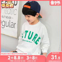 T-shirt White, blue, black Bear after bear 110cm 120cm 130cm 140cm 150cm 160cm 170cm male spring and autumn Long sleeves Crew neck Korean version There are models in the real shooting nothing Cotton blended fabric Solid color Cotton 95% polyurethane elastic fiber (spandex) 5% D19A1506 Class B