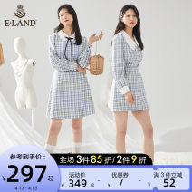 Fashion suit Spring 2021 155/XS 160/S 165/M 170/L Coat - Blue (50) blue dress - Blue (50) blue skirt - Blue (50) blue 25-35 years old E·Land EETZ110 Other 100% Same model in shopping mall (sold online and offline)