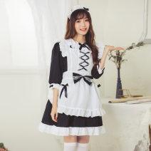 Dress Spring 2016 Dress 10 apron 10 hair accessories, white skirt, black skirt, white stockings, black stockings Average size