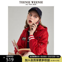 Cotton padded clothes Red Army Green 155/XS 160/S 165/M 170/L 175/XL Spring 2020 Teenie Weenie routine Long sleeves routine zipper commute Hood routine letter Britain 18-24 years old Same model in shopping mall (sold online and offline) Polyester 100%