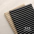 Fabric / fabric / handmade DIY fabric cotton Black 1.49 m x half m, khaki 1.49 m x half M Loose shear piece stripe printing and dyeing clothing Europe and America 91% (inclusive) - 100% (exclusive)