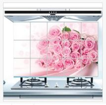 Wall stickers PVC Rose four leaf pollen rose large New products