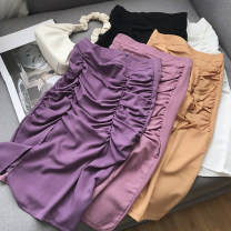 skirt Autumn 2020 S,M,L,XL Pink and purple skirt, orange skirt, purple skirt, pink skirt, white skirt, black skirt Short skirt sexy Natural waist Solid color 18-24 years old FG211605 Other / other polyester fiber