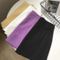 skirt Spring 2021 S,M,L,XL Yellow, purple, white, black Short skirt commute High waist skirt Solid color 18-24 years old FG309555 30% and below Other / other Korean version
