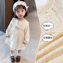 Dress Off white - 2EO female Other / other 90 for height 80 - ninety , 100 for height 90 - one hundred , 110 for height 100 - one hundred and ten , 120 for 110 - one hundred and twenty , 130 for height 120 - one hundred and thirty Other 100% spring and autumn princess Skirt / vest Solid color cotton