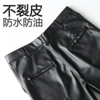 Leather pants Regular regular QX, thickened Plush sp Others other 30 (waist 2'3), 31 (waist 2'4), 32 (waist 2'5), 33 (waist 2'6), 34 (waist 2'7), 35 (waist 2'8), 36 (waist 2'9), 37 (waist 3'0), 38 (waist 3'1), 39 (waist 3'2) trousers Straight cylinder winter PU leisure time middle age Polyester 100%