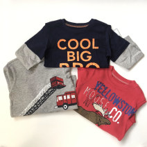 T-shirt Carter's male spring and autumn Long sleeves Crew neck Europe and America No model nothing Class A 2 years old, 3 years old, 4 years old, 5 years old, 6 years old, 7 years old