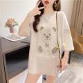 T-shirt M,L,XL,2XL Summer 2021 Short sleeve Crew neck easy Medium length routine commute cotton 86% (inclusive) -95% (inclusive) 18-24 years old Korean version originality Cartoon animation printing