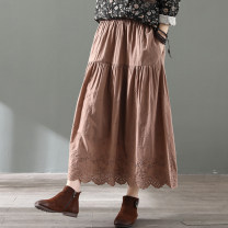 skirt Spring 2020 Average size White, black, grey, coffee Mid length dress commute Natural waist Irregular Solid color Type H 30-34 years old Clothes+ 71% (inclusive) - 80% (inclusive) Retro