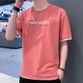 T-shirt Youth fashion routine M L XL 2XL 3XL Tkz Short sleeve Crew neck easy Other leisure summer tkz051445 Cotton 73.2% polyester 26.8% youth routine tide Knitted fabric Summer 2021 Alphanumeric printing cotton other washing Fashion brand Pure e-commerce (online only)