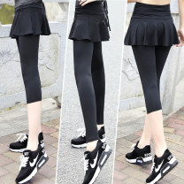 Sports pants / shorts female L,M,S,XL,XXL Black seven, black nine FQ8601 Other / other Cropped Trousers Summer of 2018 Moisture absorption, perspiration, quick drying, breathable Tightness Sports & Leisure polyester fiber polyester fiber
