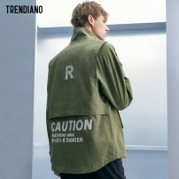 Jacket Trendiano Fashion City M L routine easy Other leisure autumn Cotton 100% Long sleeves Wear out stand collar tide Medium length other Autumn of 2018 Zipper decoration Same model in shopping mall (sold online and offline)