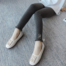trousers female 110cm 120cm 130cm 140cm 150cm 160cm spring and autumn trousers Korean version There are models in the real shooting Leggings Leather belt middle-waisted cotton Don't open the crotch Other 100% Class B Autumn of 2019 Chinese Mainland