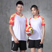 Badminton wear White red men's suit, white green men's suit, white red women's suit, white green women's suit, white red men's coat, white green men's coat, white red women's coat, white green women's coat, white shorts, black shorts For men and women S. M, l, XL, XXL, XXXL, larger Tianyu Jianlong