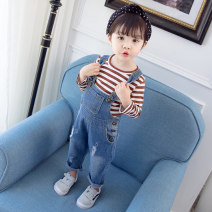 trousers Other / other neutral 80cm,90cm,100cm,110cm,120cm blue trousers Button High waist Cotton denim Cotton 100% 12 months, 18 months, 2 years old, 3 years old, 4 years old, 5 years old