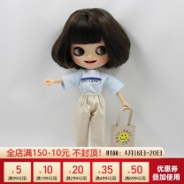 Doll / accessories Over 14, 14 parts De Bi Sheng China Suitable for small doll Blue + pants + bag, blue + skirt + bag, pink + pants + bag, pink + skirt + bag Over 14 years old 30cm small cloth clothes parts Limited collection cloth other nothing clothing