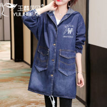 Windbreaker Autumn 2020 L XL 2XL 3XL 4XL M Pattern 1 pattern 2 pattern 3 Long sleeves routine Medium length commute Single breasted Hood routine letter Straight cylinder Korean version Yulin bell 40-49 years old 96% and above other Other 100% Pure e-commerce (online only)