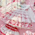 Dress Strawberry sweetheart skirt long sleeve + shorts, strawberry Hairband female Other / other 80cm, 90cm, 100cm, 110cm, 120cm, 130cm, one size Cotton 100% spring and autumn Long sleeves other Fluffy skirt 12 months, 18 months, 2 years old, 3 years old, 4 years old, 5 years old, 6 years old