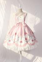 Dress Summer 2021 Mid length dress singleton  Sweet Elastic waist Socket Big swing camisole Alice girl Lolita