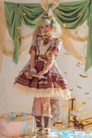 Dress Summer 2021 Dress, full set XS (fourth deposit), s (fourth deposit), m (fourth deposit), l (fourth deposit), XL (fourth deposit) High waist Alice girl Bowknot, chain, fold, ear, stitching, button