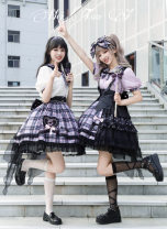 Dress Summer 2021 Black with wings (with strap, not detachable), black without wings (without strap) Alice girl