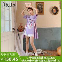 jacket Summer 2021 S M L XL violet JKZ0049188 JK&JS 25-35 years old Cotton 94.7% polyurethane elastic fiber (spandex) 5.3% Pure e-commerce (online only)