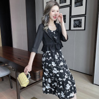 Women's large Summer 2021 Black spot black pre sale (delivery within 15 days after payment) XL (185-250kg) 250kg (250kg) Dress singleton  street easy moderate Socket Sleeveless other nylon Three dimensional cutting 5112805522-2 Extravagant posture 25-29 years old zipper 96% and above Medium length