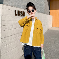 shirt yellow Baby & HH / baby Hengheng male 100cm 110cm 120cm 130cm 140cm 150cm 160cm spring and autumn Long sleeves Korean version lattice other Other 100% K201CS514-1 Class C Spring 2021