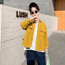 shirt yellow Baby & HH / baby Hengheng male 100cm 110cm 120cm 130cm 140cm 150cm 160cm spring and autumn Long sleeves Korean version lattice other Other 100% K201CS514-1 Class C Spring 2021