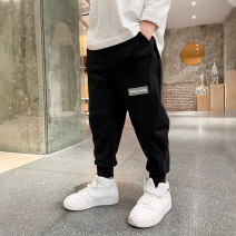 trousers Baby & HH / baby Hengheng male 100cm 110cm 120cm 130cm 140cm 150cm 160cm Grey black spring and autumn Ninth pants Korean version There are models in the real shooting Sports pants Leather belt middle-waisted other Don't open the crotch Cotton 84.5% polyester 15.5% K211KZ036 Class B K211KZ036