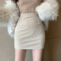 skirt Spring 2021 S,M,L Black, beige Short skirt commute High waist Type A 18-24 years old two point two five 31% (inclusive) - 50% (inclusive) Korean version