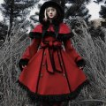 woolen coat Winter 2020 M, L [Christmas Eve] red and black cloak and overcoat other 31% (inclusive) - 50% (inclusive) Other / other
