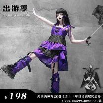 Dress Spring 2020 [purple butterfly dream] suspender layer by layer dress, [purple butterfly dream] lace dark leg cover, [purple butterfly dream] dress + leg cover S (spot), m (spot), l (spot)