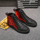 Boots Peter 37 38 39 40 41 42 43 44 Frenulum Two layer pigskin Short tube Multi material splicing Black in black Multi material splicing Two layer pigskin Martin boots Round head The trend of youth rubber Youth (18-40 years old) ventilation summer Flat heel rivet Low heel (1-3cm) Two layer pigskin